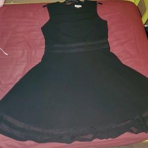 Calvin Klein, black, flowy dress